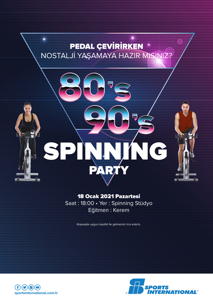 80's - 90's Spinning  Party